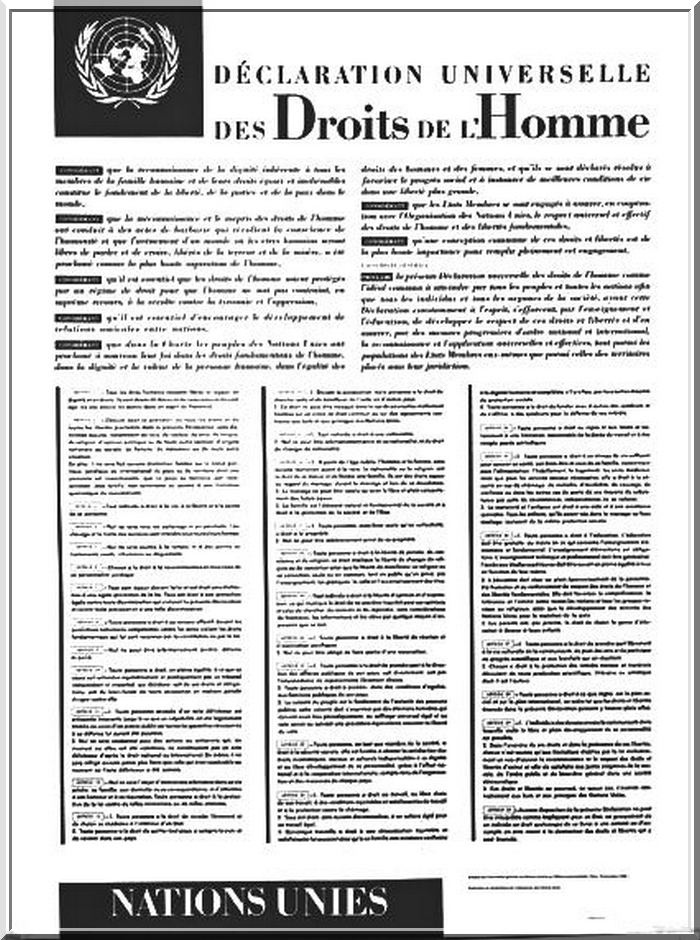 Cliquez ci-dessus pour lire la Déclaration universelle des droits de l'homme.